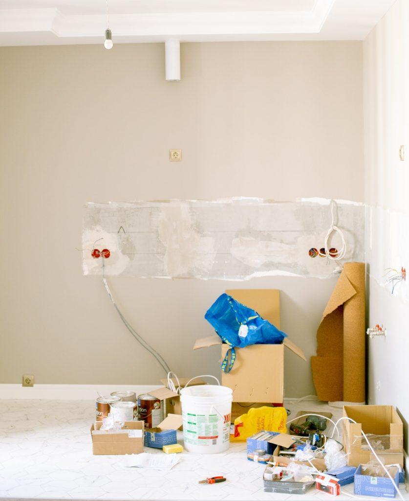 piece en renovation maison